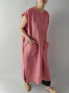 Honnete (オネット)ノーカラーシャツドレス No Collar Shirts Dress