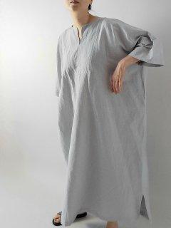 si-si-si comfort(スースースーコンフォート) キーネックロングワンピース(Cotton Linen)