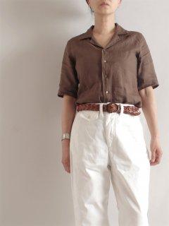 SOUTIENCOL(スティアンコル)Audrey オープンカラーシャツ 半袖