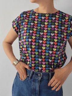 Bohemians(ボヘミアンズ)  フレンチスリーブ Tシャツ(Heart)