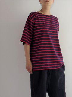 Leminor(ルミノア)ボーダー BIGシルエット 半袖Tシャツ【ネコポス指定可】
