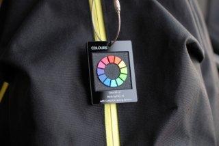 色見本キーホルダー 色相環【艶消し】+結晶塗装黒