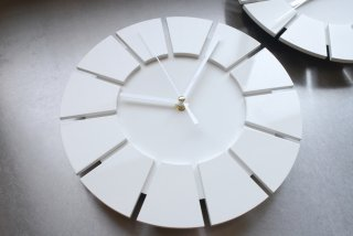 無彩環壁時計(25センチ・艶あり・白)