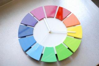 色相環壁時計(30センチ・艶有り・背面白)