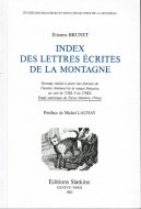 Index des lettres ecrites de la montagne <br>ルソー『山からの手紙』索引