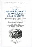 Index des premiers ecrits pedagogiques de J.-J. Rousseau