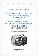 仏文 ルソー『ポーランド統治論』 『コルシカ憲法草案』単語索引・対照表