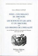 仏文 ルソー『学問芸術論』 『不平等起源論』単語索引・対照表