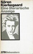 Eine literarische Anzeige <br>Soeren Kierkegaard <br>独文 文学批評 <br>キェルケゴール