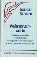 Wahrspruchworte. <br>Rudolf Steiner <br>独文 真実の言葉 <br>ルドルフ・シュタイナー