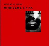 VISION of JAPAN <br>MORIYAMA Daido <br>森山大道