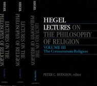 Lectures on the Philosophy of Religion <br>Hegel <br>英)宗教哲学講義 <br>ヘーゲル <br>全3巻揃 <br>※地マジック跡