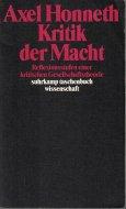 Kritik der Macht <br>独)権力の批判 <br>アクセル・ホネット