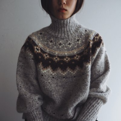 08sircus Jacquard nordic sweater ノルディックセーター<img class='new_mark_img2' src='https://img.shop-pro.jp/img/new/icons8.gif' style='border:none;display:inline;margin:0px;padding:0px;width:auto;' />