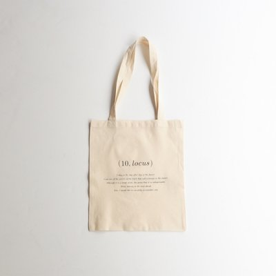 <img class='new_mark_img1' src='https://img.shop-pro.jp/img/new/icons13.gif' style='border:none;display:inline;margin:0px;padding:0px;width:auto;' />(10,locus) 3rd Anniversary Tote Bag