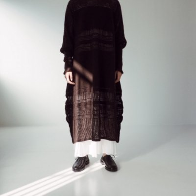 <img class='new_mark_img1' src='https://img.shop-pro.jp/img/new/icons20.gif' style='border:none;display:inline;margin:0px;padding:0px;width:auto;' />08sircus Mesh Border Knit Dress メッシュボーダーニットワンピース