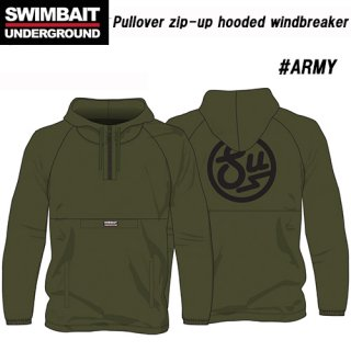 Swimbait Underground/Pullover zip-up hooded windbreaker<img class='new_mark_img2' src='https://img.shop-pro.jp/img/new/icons1.gif' style='border:none;display:inline;margin:0px;padding:0px;width:auto;' />
