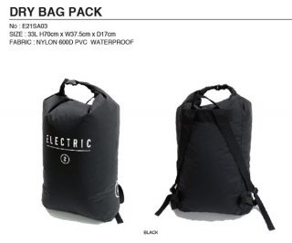 ELECTRIC/DRY BAG PACK<img class='new_mark_img2' src='https://img.shop-pro.jp/img/new/icons1.gif' style='border:none;display:inline;margin:0px;padding:0px;width:auto;' />