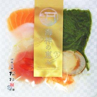 【冷凍】海鮮丼サーモン,イカ,鯛,マグロ,海老,めかぶ,ホタテ(具材),わさび,特製タレ付き