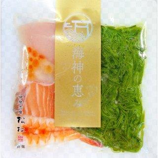 【冷凍】海鮮丼(めかぶ,海老,サーモン,鯛,イクラ,トンボシビ,)、わさび、特製タレ付き