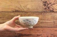 じゅん陶房 色絵粉引飯碗(大)