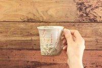 じゅん陶房 色絵粉引マグカップ
