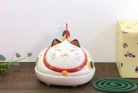 幸せこいこい猫 蚊遣器