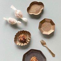 ゴールド小皿豆皿(花型・雲型・八角)