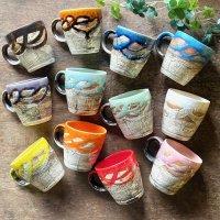 鶴琳窯 マーブル マグカップ