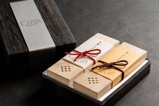 羊羹ショコラ、栗きんとんショコラ2本箱セット(ショコラトリーカルヴァ 北鎌倉 門前 限定商品)