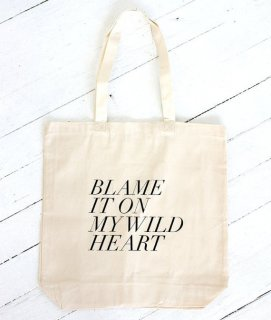 FIELDGUIDED | BLAME IT ON MY WILD HEART | トートバッグ | TOTE BAG