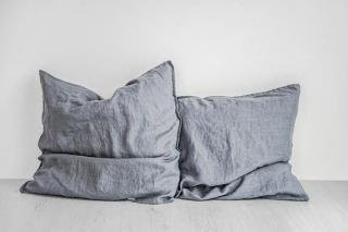 not PERFECT LINEN | LINEN PILLOW CASE (dark grey) | 枕カバー/ピローケース(2枚セット)