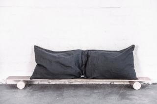 not PERFECT LINEN | LINEN PILLOW CASE (charcoal) | 枕カバー/ピローケース(2枚セット)