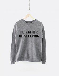 RESILIENCE | I'D RATHER BE SLEEPING CREW NECK SWEATSHIRT (heather grey) | スウェット