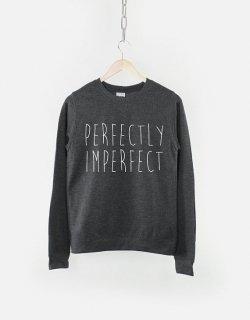 RESILIENCE | PERFECTLY IMPERFECT CREW NECK SWEATSHIRT (heather black) | スウェット