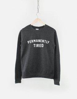 RESILIENCE | PERMANENTLY TIRED CREW NECK SWEATSHIRT (heather black) | スウェット