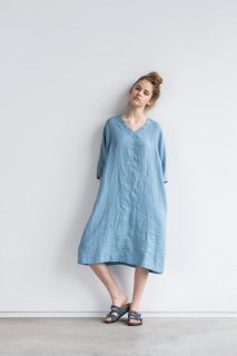 not PERFECT LINEN | washed linen KIMONO tunic (swedish blue)