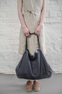 【ネコポス送料無料】not PERFECT LINEN | LARGE LINEN TOTE BAG (charcoal black) | トートバッグ