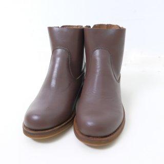【SALE 20%オフ】minan polku | side zip boots (d.brown) | ブーツ 38 (24cm)