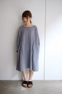 not PERFECT LINEN   Oversized loose fitting linen dress (dark grey)