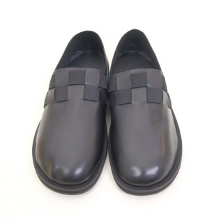 minan polku | checkered pattern slip-on (black) | シューズ