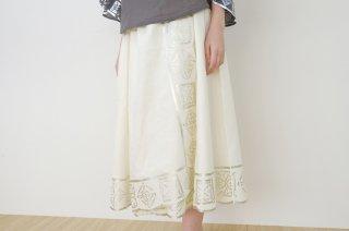canako inoue | 「祈り」スカート (white-silver) | スカート