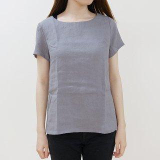 not PERFECT LINEN   BASIC LINEN T SHIRT (dark grey)   シャツ   レディース UK8/S