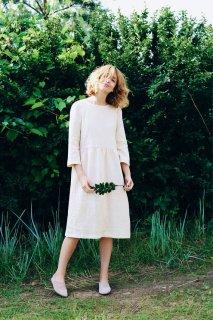 OffOn | 3/4 Sleeve Dress (ivory) | ワンピース | 着丈95cm
