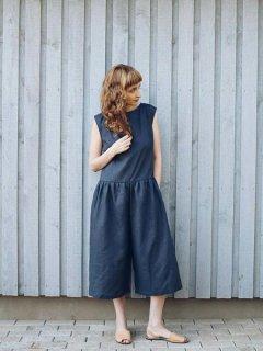 OffOn | linen jumpsuit Lola (charcoal) | リネンジャンプスーツ | UK 8