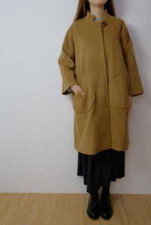 STAMP AND DIARY   スタンドカラーワイドコート (brown)   コート