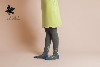 KURI BOTELLA (クリ ボテラ) | Swan (gray) | タイツ