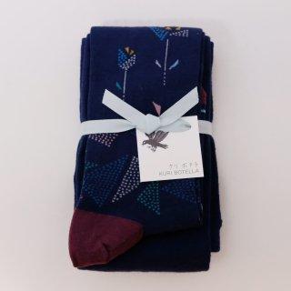 KURI BOTELLA (クリ ボテラ) | Origami (navy) | タイツ