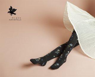 KURI BOTELLA (クリ ボテラ) | Flowerbed (dark gray) | タイツ