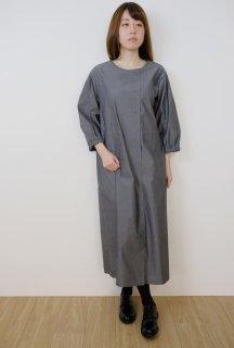 STAMP AND DIARY   ノーカラーW前コートワンピース (grey)   ワンピース